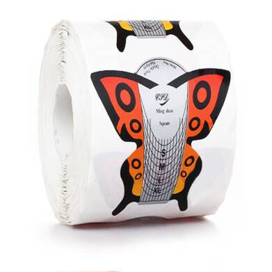Nail Form Butterfly Orange